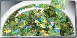 Gel UV Grosses Paillettes Verts 15 ml