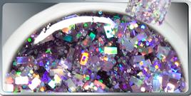 Gel UV Grosses Paillettes Violettes 15 ml